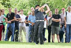 27.06.2015, Golfclub München Eichenried, Muenchen, GER, BMW International Golf Open, Tag 3, im Bild Marcel Schneider (GER) schlaegt aus dem Rough // during the day three of BMW International Golf Open at the Golfclub München Eichenried in Muenchen, Germany on 2015/06/27. EXPA Pictures © 2015, PhotoCredit: EXPA/ Eibner-Pressefoto/ Kolbert<br /> <br /> *****ATTENTION - OUT of GER*****