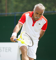 MANCHESTER, ENGLAND: Mansour Bahrami (IRN) on Day 5 of the Manchester Masters Tennis Tournament at the Northern Tennis Club. (Pic by David Tickle/Propaganda)