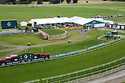 The John Smiths tented village with Hopitality Marquee and Winning Post branding prior to the John Smiths Diamond Cup Meeting at York Racecourse, York, United Kingdom on 13 July 2019.