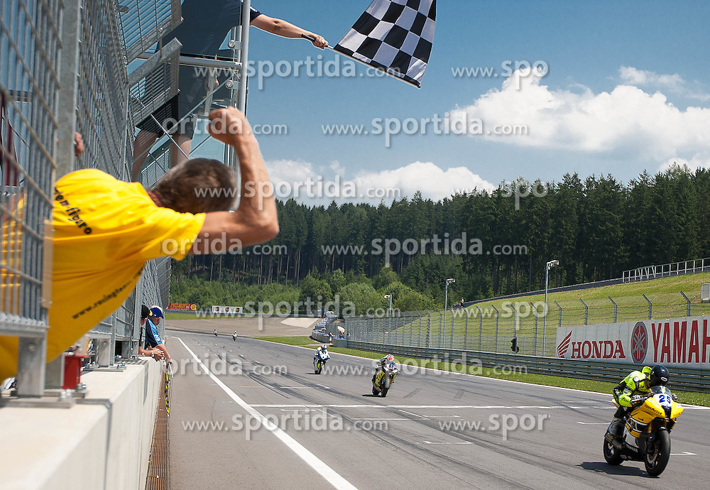 01.07.2012, Red Bull Ring, Spielberg, AUT, IDM Red Bull Ring, Renntag, im Bild Tatu Lausletho, (Supersport, FIN, #25, 1. Platz) // during the IDM race day on the Red Bull Circuit in Spielberg, 2012/07/01, EXPA Pictures © 2012, PhotoCredit: EXPA/ M. Kuhnke