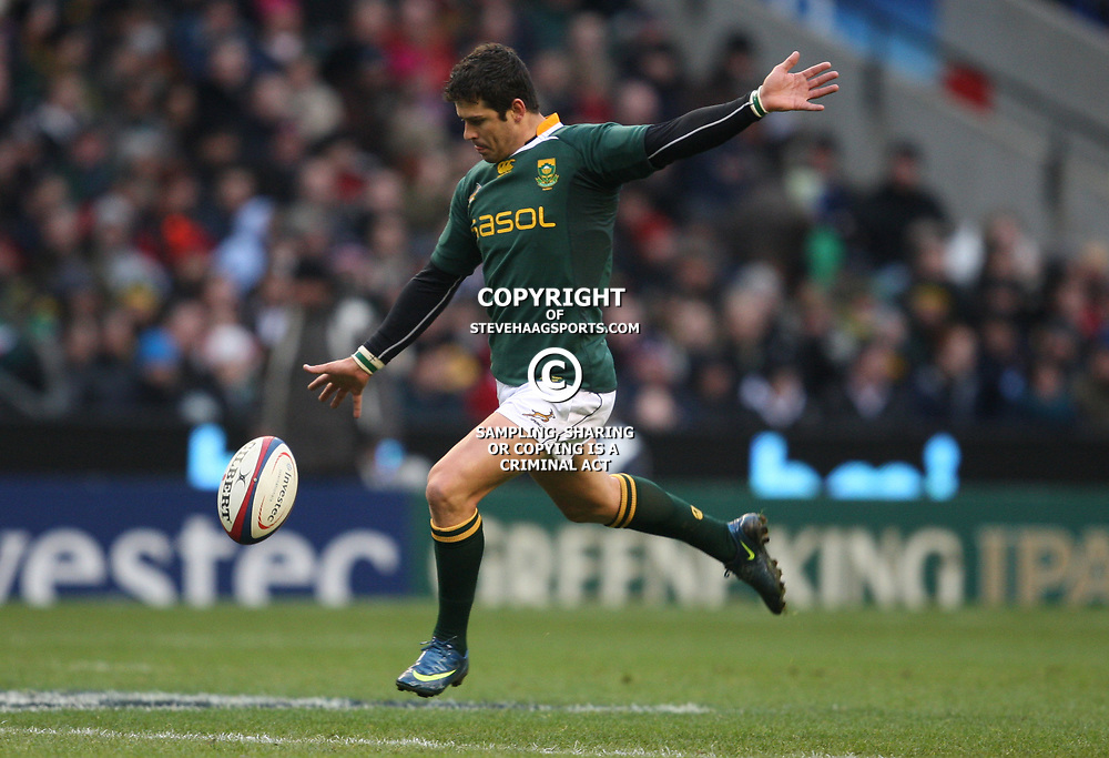 LONDON, ENGLAND - NOVEMBER 27,Morne Steyn  during the End of Year tour match between England and South Africa at Twickenham Stadium on November 27, 2010 in London, England<br /> Photo by Steve Haag / Gallo Images
