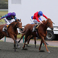 Cantal and Ryan Moore winning the 1.40 race