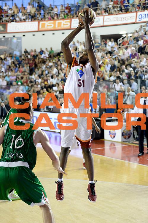 DESCRIZIONE : Roma Lega A 2012-13 Acea Virtus Roma Montepaschi Siena Finale Gara 5<br /> GIOCATORE : Gani Lawal<br /> CATEGORIA : tiro<br /> SQUADRA : Acea Virtus Roma<br /> EVENTO : Campionato Lega A 2012-2013 Play Off Finale Gara 5<br /> GARA : Acea Virtus Roma Montepaschi Siena Finale Gara 5<br /> DATA : 19/06/2013<br /> SPORT : Pallacanestro <br /> AUTORE : Agenzia Ciamillo-Castoria/N. Dalla Mura<br /> Galleria : Lega Basket A 2012-2013 <br /> Fotonotizia : Roma Lega A 2012-13 Acea Virtus Roma Montepaschi Siena Finale Gara 5