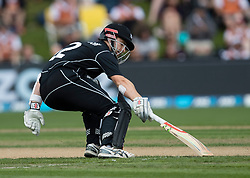 New Zealand's Kane Williamson completes a run against Pakistan in the third one day cricket international at the University of Otago Oval, Dunedin, New Zealand, Saturday, January 13, 2018. Credit:SNPA / Adam Binns ** NO ARCHIVING**