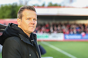 Forest Green Rovers manager, Mark Cooper during the EFL Sky Bet League 2 match between Cheltenham Town and Forest Green Rovers at Jonny Rocks Stadium, Cheltenham, England on 29 December 2018.