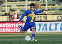 """Luca Cigarini (Parma)<br /> Italian """"Serie A"""" 2006-07 <br /> 23 Dic 2006 (Match Day 18)<br /> Parma-Lazio (1-3)<br /> """"Ennio Tardini"""" Stadium-Parma-Italy<br /> Photographer Luca Pagliaricci INSIDE"""
