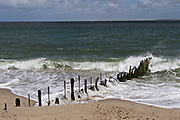 Sylt, Germany. Ellenbogen, the Northern tip of the island. A rusted Buhne.