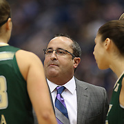 HARTFORD, CONNECTICUT- JANUARY 10: Head coach Jose Fernandez of the South Florida Bulls talking to his players during the the UConn Huskies Vs USF Bulls, NCAA Women's Basketball game on January 10th, 2017 at the XL Center, Hartford, Connecticut. (Photo by Tim Clayton/Corbis via Getty Images)
