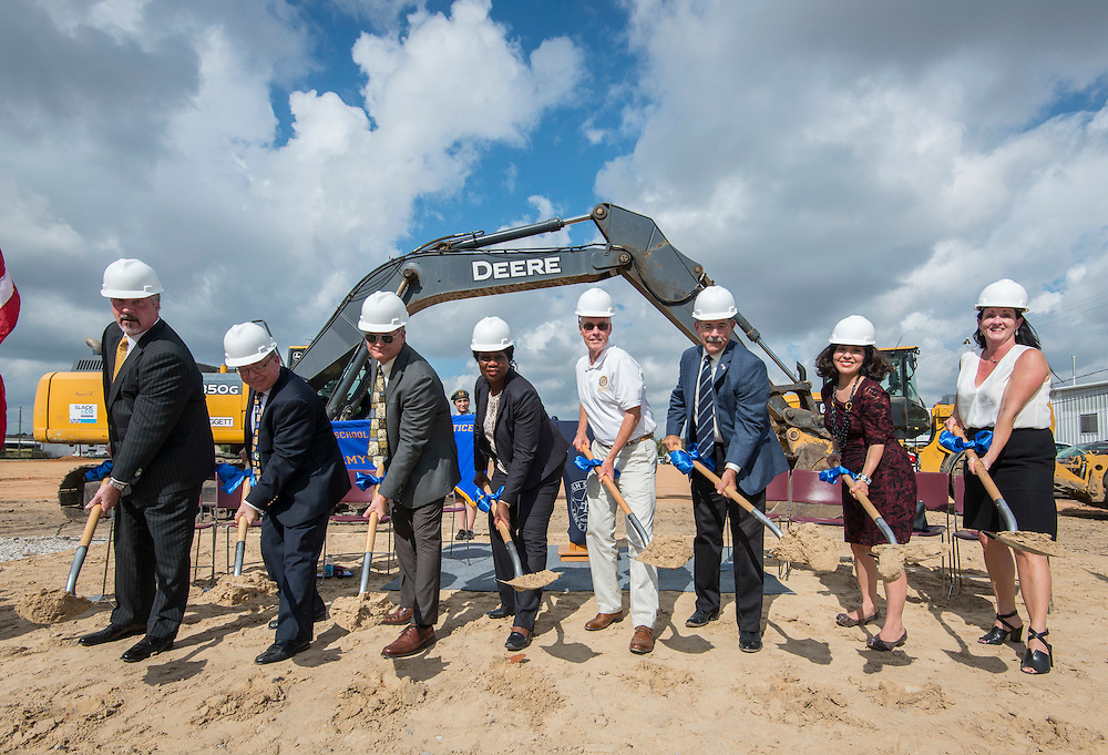 Groundbreaking ceremony for the new High School for Law and Justice, October 6, 2016.