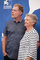 Andreas Lust, Ingrid Burkhard at the Die Einsiedler (The Eremites) film photocall at the 73rd Venice Film Festival, Sala Grande on Friday September 2nd 2016, Venice Lido, Italy.