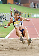 GERMISTON, SOUTH AFRICA, Saturday 25 February 2011,Charlene Potgieter broke the 20year old SA Record in the triple jump with a jump of 13.61m  during the Yellow Pages Interprovincial held at the Herman Immelman stadium..Photo by ImageSA/ASA.