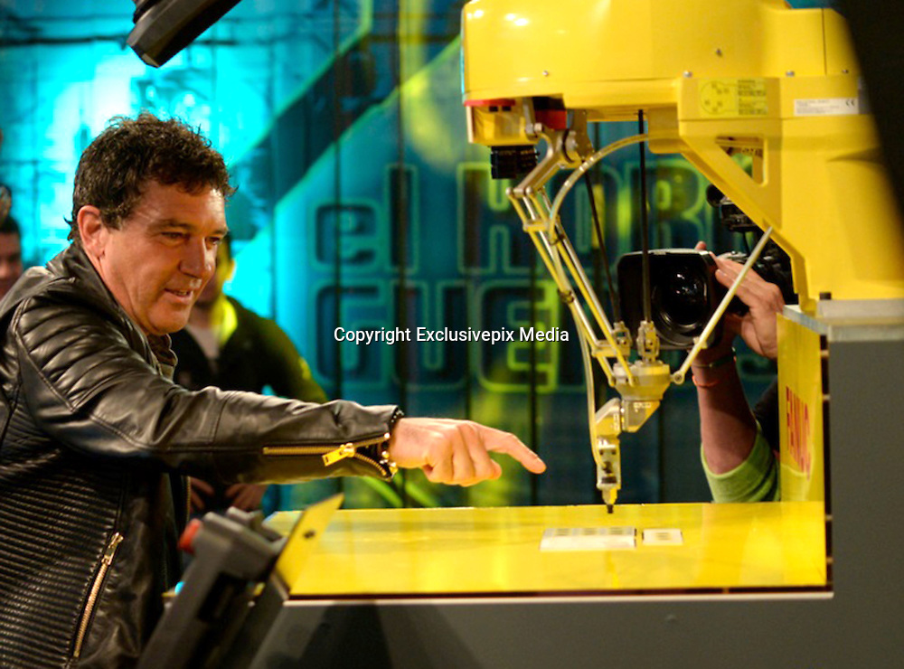 Mar 30, 2016 - Madrid, Spain - Last night, was to have fun at the Anthill, television program, our most international actor Antonio Banderas. The Malaga which is about to release his new film starring Altamira, you can see from next April 1. The film, directed by Hugh Hudson, shows the discovery of the most famous caves of Cantabria and historical site of great importance in the world. Antonio, gives life on this occasion Marcelino Sanz de Sautola who discovered this wonder in 1875 with his daughter Maria, fighting the international scientific community, contempt finding. <br /> (Credit Image: &copy; Exclusivepix Media)
