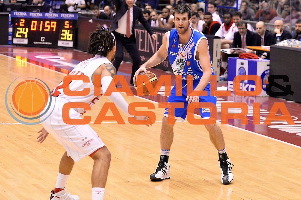 DESCRIZIONE : Milano Coppa Italia Final Eight 2014 Quarti di Finale EA7 Emporio Armani Milano Banco di Sardegna Sassari<br /> GIOCATORE : Drake Diener<br /> CATEGORIA : Palleggio<br /> SQUADRA : Banco di Sardegna Sassari<br /> EVENTO : Beko Coppa Italia Final Eight 2014<br /> GARA : EA7 Emporio Armani Milano Banco di Sardegna Sassari<br /> DATA : 07/02/2014<br /> SPORT : Pallacanestro<br /> AUTORE : Agenzia Ciamillo-Castoria/R.Morgano<br /> Galleria : Lega Basket Final Eight Coppa Italia 2014<br /> Fotonotizia : Milano Coppa Italia Final Eight 2014 Quarti di Finale EA7 Emporio Armani Milano Banco di Sardegna Sassari<br /> Predefinita :