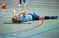 ARNHEM -  halve finales NK competitie  zaalhockey  junioren. Pinoke JA1-Nijmegen JA1 . Pinoke plaats zich voor de finale. teleurstelling bij Nijmegen. .   COPYRIGHT  KOEN SUYK