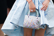 Blue Dress and Dior Bag, Outside Dior Couture