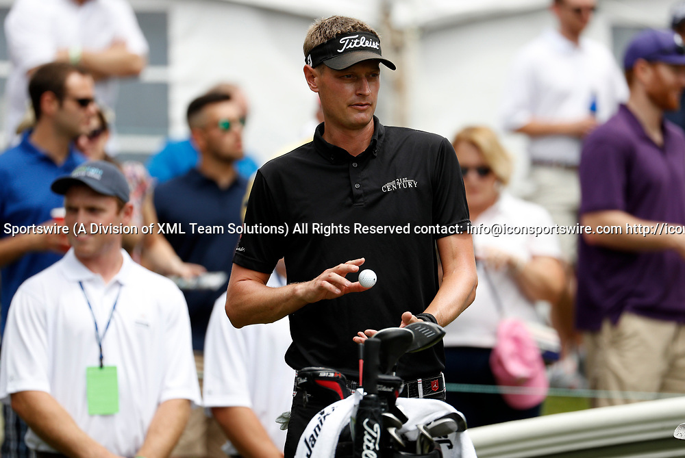 CROMWELL, CT - JUNE 24: Brett Stegmaier of the United States during the third round of the Travelers Championship on June 24, 2017, at TPC River Highlands in Cromwell, Connecticut. (Photo by Fred Kfoury III/Icon Sportswire)