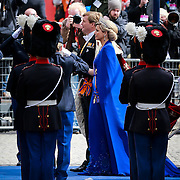 NLD/Amsterdam/20130430 - Inhuldiging Koning Willem - Alexander, aankomst Nieuwe Kerk Koning Willem - Alexander en Koninging Maxima