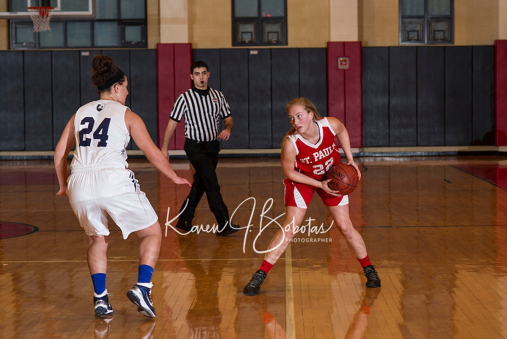 St Paul's School varsity boys and girls Basketball.  © 2013 Karen Bobotas Photographer