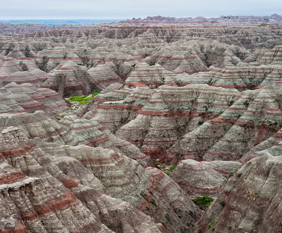 A panoramic view of the Badlands National Park in South Dakota