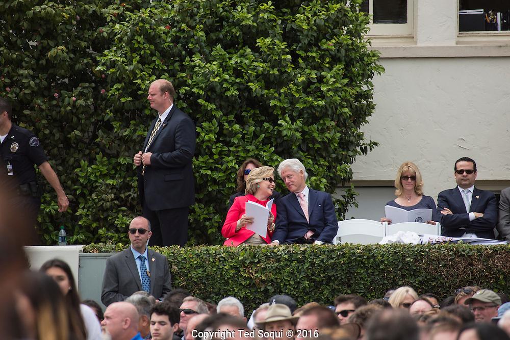 President Clinton at LMU commencement ceremonies.