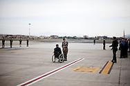 CIAMPINO. UFFICIALI DELLE FORZE ARMATE ATTENDONO L'ARRIVO DELLE SALME DEI MILITARI CADUTI IN AFGHANISTAN