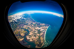 The English Channel, en-route from Faro, Portugal to Luton..© Michael Schofield..
