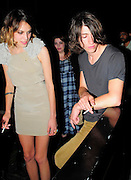 02.JUNE.2009 - LONDON<br /> <br /> ALEXA CHUNG AND BOYFRIEND ALEX TURNER LEAVING THE LUCKY VOICE KAREOKE BAR, SOHO THEY THEN HEADED ONTO BUNGALO 8 CLUB WHERE THEY PARTIED TILL 3.30AM BEFORE CALLING IT A NIGHT.<br /> <br /> BYLINE MUST READ : EDBIMAGEARCHIVE.COM<br /> <br /> *THIS IMAGE IS STRICTLY FOR UK NEWSPAPERS &amp; MAGAZINE ONLY* <br /> *FOR WORLDWIDE SALES OR WEB USE PLEASE CONTACT EDBIMAGEARCHIVE - 0208 954 5968*