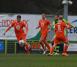 Forest Green Rovers's Jonathan Parkin loses the ball- Photo mandatory by-line: Nizaam Jones - Mobile: 07966 386802 - 14/03/2015 - SPORT - Football - Nailsworth - The New Lawn - Forest Green Rovers v Braintree  - Vanarama Football Conference.