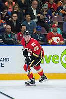 PENTICTON, CANADA - SEPTEMBER 17: Dillon Dube #59 of Calgary Flames skates against the Edmonton Oilers on September 17, 2016 at the South Okanagan Event Centre in Penticton, British Columbia, Canada.  (Photo by Marissa Baecker/Shoot the Breeze)  *** Local Caption *** Dillon Dube;