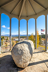 """Rocking Stone in Autumn 1"" - Photograph of Truckee, California's Rocking Stone, shot in autumn."