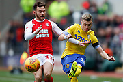 Leeds United midfielder Ezgjan Alioski (10) in action  during the EFL Sky Bet Championship match between Rotherham United and Leeds United at the AESSEAL New York Stadium, Rotherham, England on 26 January 2019.