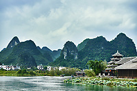 traditional house of Shangri La between Guilin and Yangshuo in Guangxi province  China