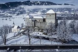 THEMENBILD - die Mittelalter Burg Kaprun in der winterlichen Landschaft, aufgenommen am 30. Januar 2020 in Kaprun, Österreich // the medieval castle Kaprun in the winter landscape, Kaprun, Austria on 2020/01/30. EXPA Pictures © 2020, PhotoCredit: EXPA/ JFK