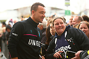 Aston Villa's John Terry arrives at Pride Park Stadium  during the EFL Sky Bet Championship match between Derby County and Aston Villa at the Pride Park, Derby, England on 10 November 2018.