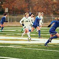 2nd year mid-fielder, Taylor Bubnick (28) of the Regina Cougars during the Women's Soccer home game on Sat Oct 13 at U of R Field. Credit: Arthur Ward/Arthur Images