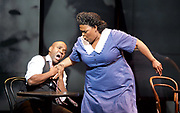 Charlie Parker's Yardbird<br /> by Daniel Schnyder <br /> librettist Bridgette A. Wimberly <br /> English National Opera <br /> at Hackney Empire, London, Great Britain <br /> 7th June 2017 <br /> <br /> <br /> Lawrence Brownlee as Charlie Parker <br /> <br /> Angela Brown as Addie Parker <br /> <br /> <br /> <br /> <br />  <br /> Photograph by Elliott Franks <br /> Image licensed to Elliott Franks Photography Services