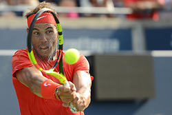 August 12, 2018 - Toronto, Ontario, Canada - RAFAEL NADAL of Spain in the final of the Rogers Cup tennis tournament. (Credit Image: © Christopher Levy via ZUMA Wire)