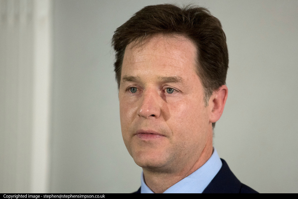 © Licensed to London News Pictures. 08/05/2015. London, UK Deputy Prime Minister and Leader of the Liberal Democrats resigns as leader today 8th May 2015 after his party was almost wiped out entirely in the UK General Election. Photo credit : Stephen Simpson/LNP
