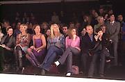 Lucy Ferry, Trinni Woodall, Tania Bryer, Tara Palmer-Tompkinson and Beverley Bloom. Jasper Conran. 22 February 2001. © Copyright Photograph by Dafydd Jones 66 Stockwell Park Rd. London SW9 0DA Tel 020 7733 0108 www.dafjones.com