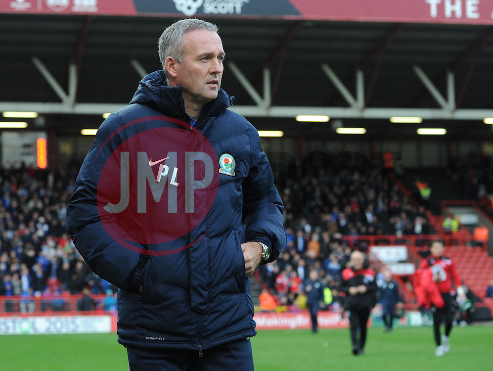 Blackburn Rovers Manager Paul Lambert - Mandatory by-line: Paul Knight/JMP - Mobile: 07966 386802 - 05/12/2015 -  FOOTBALL - Ashton Gate Stadium - Bristol, England -  Bristol City v Blackburn Rovers - Sky Bet Championship