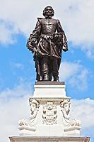 Samuel de Champlain statue  quebec city canada