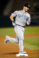 OAKLAND, CA - SEPTEMBER 09:  Mike Zunino #3 of the Seattle Mariners rounds the bases after hitting a home run against the Oakland Athletics during the seventh inning at the Oakland Coliseum on September 9, 2016 in Oakland, California. The Seattle Mariners defeated the Oakland Athletics 3-2. (Photo by Jason O. Watson/Getty Images) *** Local Caption *** Mike Zunino