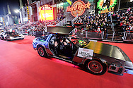 Cars from the movie &quot;Back to the Future&quot; move along Hollywood Boulevard during the 85th Annual Hollywood Christmas Parade in Los Angeles on Sunday December 27, 2016. (Photo by Ringo Chiu/PHOTOFORMULA.com)<br /> <br /> Usage Notes: This content is intended for editorial use only. For other uses, additional clearances may be required.