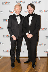 © Licensed to London News Pictures. 04/05/2017. LONDON, UK.  ERIC LANLARD, celebrity chef and his partner and the Chairman of Back Up Trus, PAUL NEWRICK, attend The City Dinner fundraising event for the charity, 'Back Up Trust' at the Marchant Taylor's Hall. 'Back Up Trust' work to inspire independence in people affected by spinal cord injury and help them get the most from their lives, working with people of all ages, from young children to the elderly.  Photo credit: Vickie Flores/LNP