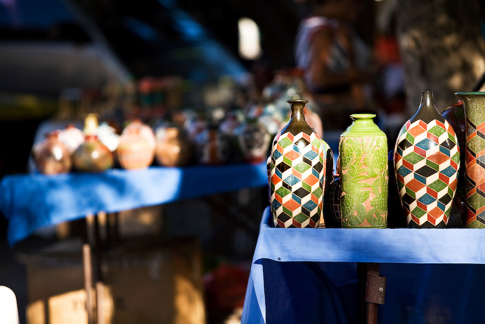 Pottery for sale . Granada is Nicaragua's most famous city. founded in 1524 it is one of best examples of Spanish colonial architecture in the Americas. .it has a varied history including its almost total destruction by filibuster William Walker in a childlike tantrum. Today it is a popular tourist town though retains a strong sense of its own identity.