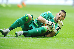 04.08.2015, Allianz Arena, Muenchen, GER, AUDI CUP, Real Madrid vs Tottenham Hotspur, im Bild Torwart Kiko Casilla (Real Madrid) // during the 2015 Audi Cup Match between Real Madrid and Tottenham Hotspur at the Allianz Arena in Muenchen, Germany on 2015/08/04. EXPA Pictures © 2015, PhotoCredit: EXPA/ Eibner-Pressefoto/ Stuetzle<br /> <br /> *****ATTENTION - OUT of GER*****