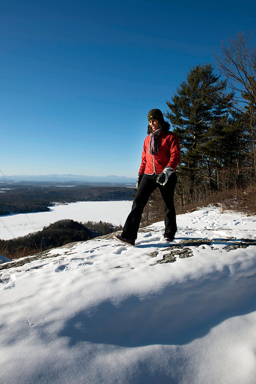 Winter hiking at Moosalamoo National Recreation Area in Vermont.