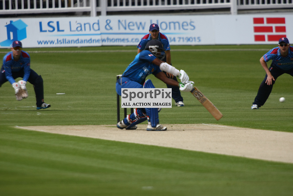 Sri Lankas Tillakaratne Dilshan hits out. Sri Lanka play a select Kent County side at The Spitfire Ground, Canterbury. (c) Matt Bristow | SportPix.org.uk