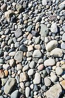 Rocks on a beach in Whatcom County, Washington, USA.  Point Whitehorn Marine Reserve.