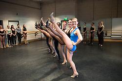 Auditions for The Tiller Girls.<br /> Image shows dancers auditioning to become Tiller Girls for a Christmas TV Special, Sadlers Wells, London, United Kingdom. Monday, 2nd December 2013. Picture by  i-Images / i-Images